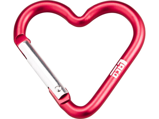 LACD Accessory Biner Heart Small - rouge
